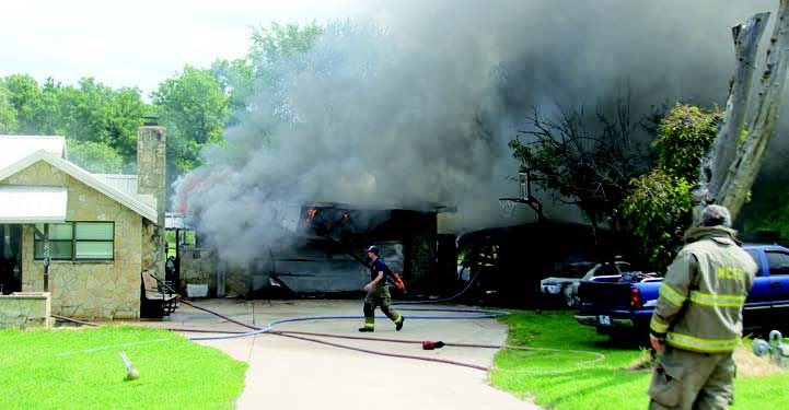 A FIRE WAS reported Friday morning