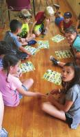 CRAFTS AND games like Bird Bingo are played during Day Camp to learn about nature at Camp McFadden.