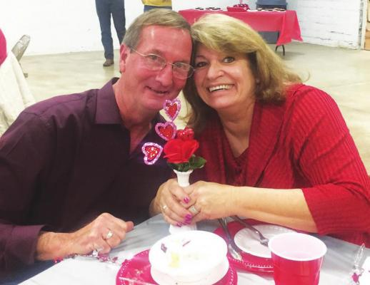 NEWLYWEDS Mike and Janet Barnhart attended the Billings Valentine event.