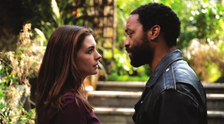 "Anne Hathaway and Chiwetel Ejiofor in ""Locked Down."" (Susan Allnutt/HBO Max/TNS)"
