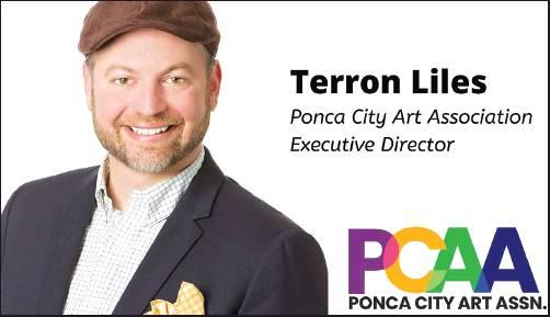 TERRON LILES is the new executive director of the Ponca City Art Association. Terron Liles Ponca City Art Association Executive Director