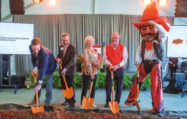 A GROUNDBREAKING ceremony was held on Saturday for the new flight training center at Oklahoma State University in Stillwater. This is set to officially open by the fall of 2021.