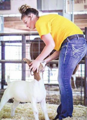 Grand Champion and Supreme in the goat category: Haley Merhoff. (Photo by Bittercreek Photography)