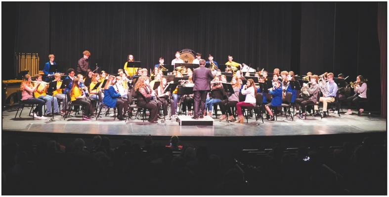 NEWKIRK HIGH School students recently attended the NOC Invitational Honor Band. (Courtesy Photo)