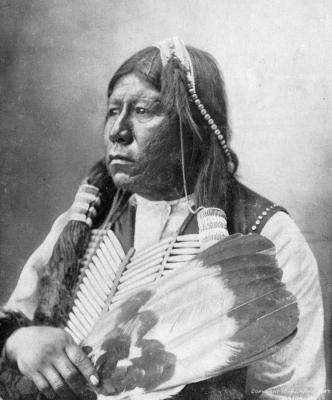 Tonkawa Chief Grant Richards was one of the few survivors of the massacre of Tonkawa Creek. Frank A. Rinehart photographed Richards in about 1898. Photo provided by Oklahoma Historical Society