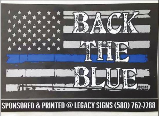 A BACK THE Blue prayer rally will be held on Saturday morning beginning at 9 a.m. at the Cann Memorial Botanical Gardens.