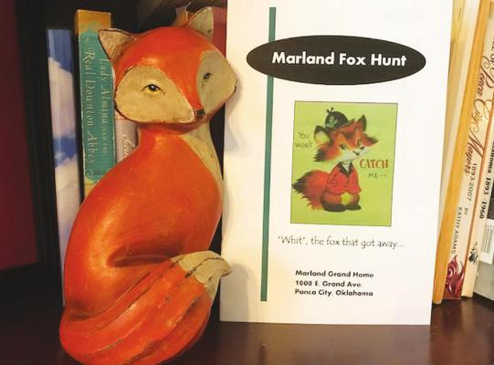 "INDOOR FOX Hunt activity booklet used to search for ""Whit the Red Fox"" at the Marland Grand Home. The activity was created for younger guests to explore and find the little red fox in sixteen of the historic home's rooms."