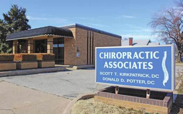 Chiropractic Associates located at 300 N. 5th in Ponca City whose main focus is to help patients achieve optimum health through chiropractic adjustments and manual therapy. (Photo by Calley Lamar)