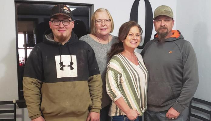 Pictured left to right Dylan Sharp, Julie Oxford, Gina and Chris LeMay of Oxford Tire Shop in Tonkawa. Gina and Chris LeMay took over ownership of the business at the end of 2020.