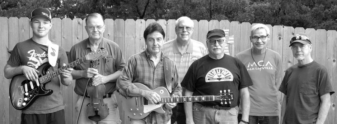 """Hayes Brothers Band"" will perform pop, rock and country classics at the free Full Moon Concert, Wednesday, Sept. 2 at 7:30 p.m. in Tonkawa Centennial Park. Band members left to right: Jace Sober, Eddie Holick, Clark Hayes, Steve Scott, Stan Villines, Kent Hayes, Keke Johnson."