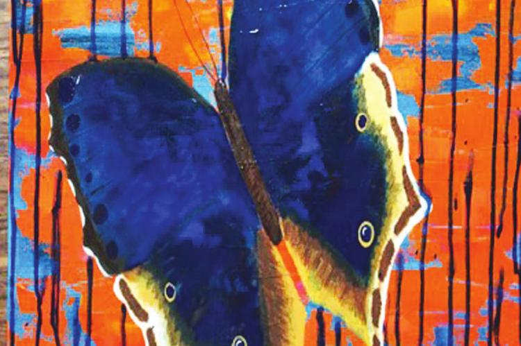 "Chelsea McConnell- 1st Place Amateur Oil/Acrylic Titled: ""Glennora's Butterfly"""