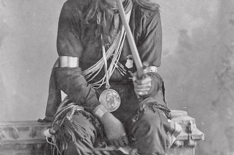 Tall Chief, aka Louis Angel, was the last of the hereditary Quapaw chiefs. He settled near Skiatook Lake before receiving an 1893 land allotment in Quapaw at age 48. (Photo provided by Quapaw Nation)