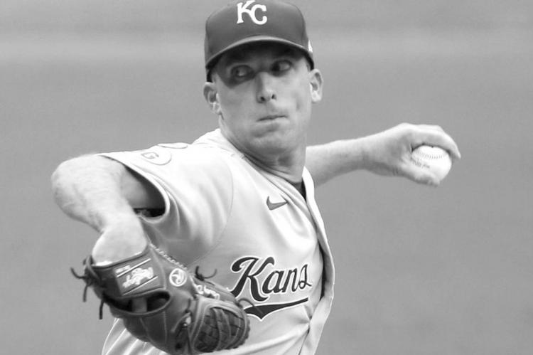 Kansas City Royals starting pitcher Danny Duffy throws in the first inning against the Cleveland Indians, September 9, 2020, at Progressive Field.