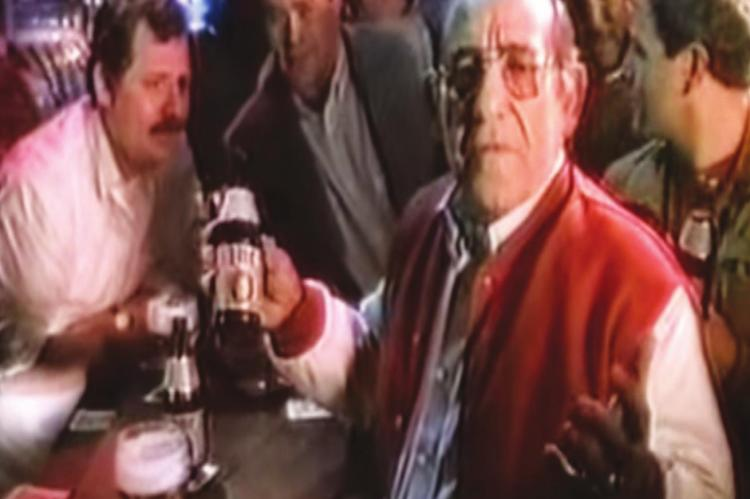 YOGI BERRA imparted some of his philosophical wisdom while making a beer commercial.