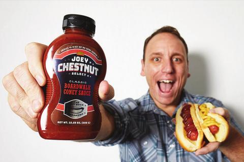 JOEY CHESTNUT is a professional competitive eater. He trains by fasting and stretching his stomoch with water, milk and protein supplements.