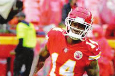KANSAS CITY Chiefs wide receiver Sammy Watkins (14) catches a pass during warm-ups prior to the NFL Super Bowl football game against the San Francisco 49ers, Sunday, Feb. 2, 2020 in Miami Gardens, Fla. The Chiefs defeated the 49ers 31-20. (AP Photo)