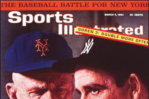 CASEY STENGEL and Yogi Berra were featured on a cover of Sports Illustrated. Stengel loved his talented catcher and had lots of things to say about him.