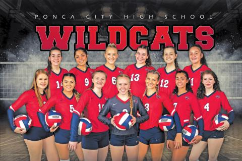 THE 2020 varsity Ponca City Lady Cat volleyball team is shown above. This photo was provided by Photos by Jes.